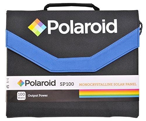 Polaroid SP100 Faltbares Solar-Panel mit 100 W Ladeleistung, Universal-Ausgang und Adaptern