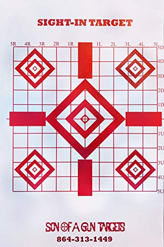 Son of A Gun Precision Sight-in Shooting Targets, HIGH Shot Placement Visibility, 100 Shooting Paper Targets. GET More Bang for Your Buck!