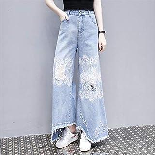 Niceday Jeans cordón de la Alta Cintura de los Pantalones Vaqueros de la Mujer del tamaño Extra Grande de Las Mujeres Stre...