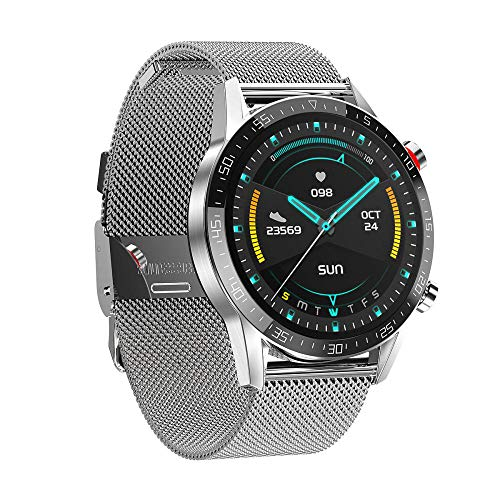 Yumanluo Smart Band Smart Watch,Pareja Reloj Inteligente, ECG + PPG Brazalete-Acero Plateado,Pulsera Inteligente con Pulsómetro