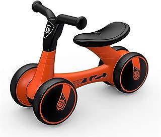 キッズバランスバイク 子供ウォーカーベビーバランスバイク幼児歩行屋内屋外ペダル車キッズライド丈夫なバイク四輪学習幼児ドライブ四輪 ペダルなし自転車 (色 : Black orange, サイズ : Free size)