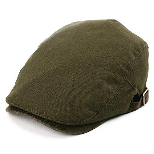 SIGGI Flatcaps Schirmmütze Schiebermütze Baumwolle Herren, M, 89337_Army grün