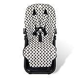 Fundas BCN ® - F125 - Colchoneta para silla de paseo Bugaboo Cameleon ® 3 – Diversos estampados (Fun Black Star)