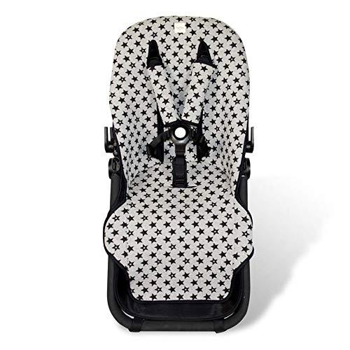 Fundas BCN  - F125 - Colchoneta para silla de paseo Bugaboo Cameleon  3 – Diversos estampados (Fun Black Star)