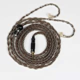 Senlee 8 Core Single Crystal Copper Sliver Foil Braided 2PIN Earphone Cable Upgrade Replacement Cable 2.5MM Plug for KZ ZSN Pro AS16 ZS10 Pro CCA CA4 A10(2.5MM Plug, C Pin)