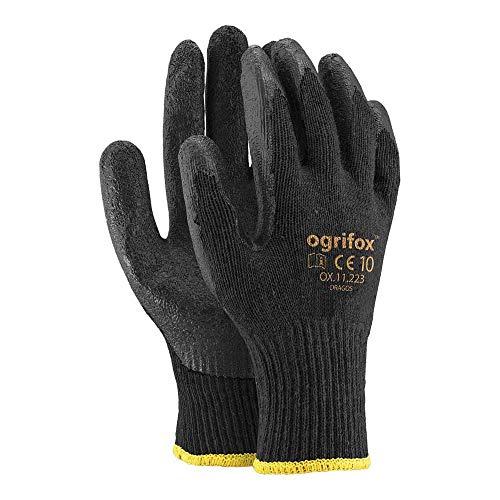 Ogrifox OX-DRAGOS_BB Schutzhandschuhe, Ox.11.223 Dragos, Schwarz-Schwarz, 10 Größe, 12 Stück