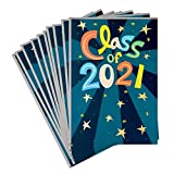 """As graduation season fast approaches, make sure you have a card for all the special graduates in your life with this graduation card pack. Graduation card pack includes 10 cards in a single design featuring colorful """"Class of 2021"""" lettering and gold..."""