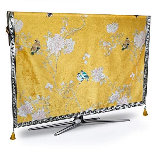WENYOG Funda TV Exterior TV Cubierta de Polvo de Lujo Resistente a la Intemperie a Prueba de Polvo Protect Cojín Televisión de Plasma Camino de Mesa Mantel de Tela Malla for Cubrir