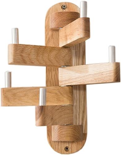 LLYDIAN Manteau en Bois Massif Nordic Chambre Suspendue Suspendus Tout Bois Massif Simple créatif Maison Salon Porche tournant Cintre