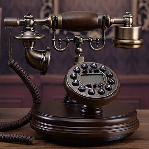 YDS SHOP Massivholz Europäische Antike Telefon Retro Kreative Amerikanische Festnetz Alte China Telefon Taste Typ