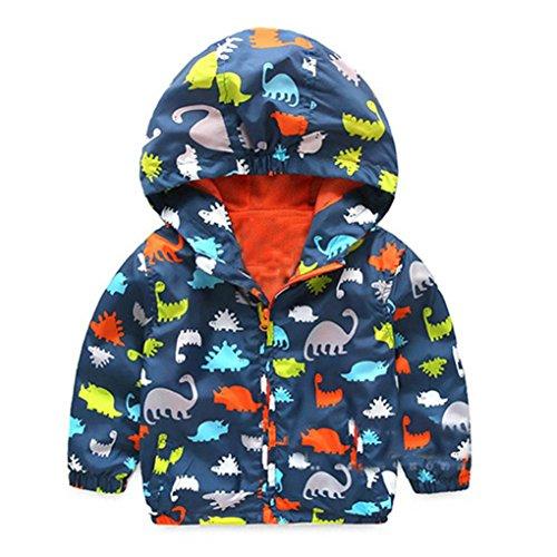 Dragon868 Abrigos Bebé, Otoño Invierno niños bebé Capa botón Chaqueta Abrigo Tamaño 6 Meses-3 años (12M, Marino)