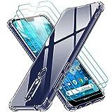 ivoler Coque pour Nokia 7.1 avec Pack de 3 Protection Écran en Verre Trempé, Transparent Étui de...