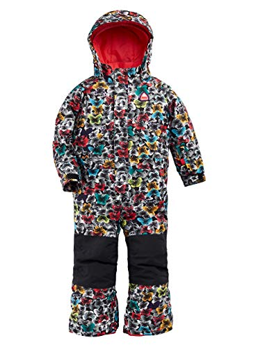 Burton Kinder One Piece Snowboard Overall, Multicolor Butterfly, 3T