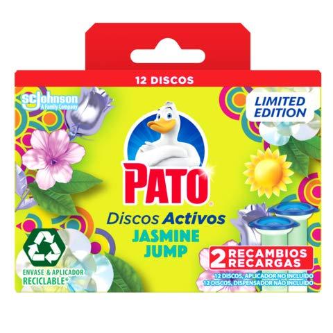 PATO®  Discos Activos WC Jasmine Jump, Limpia y Desinfecta,