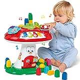 M MOLTO Seta de Actividades 3 en 1, con Juego de Bloques construccion para bebés a Partir de 1 año, Juguetes Bebes 1 año, Bloques construccion niños, Juegos educativos Musical