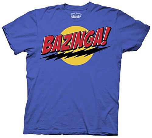 The Big Bang Theory Bazinga! Blue Adult Unisex T-Shirt Tee (XXX-Large)