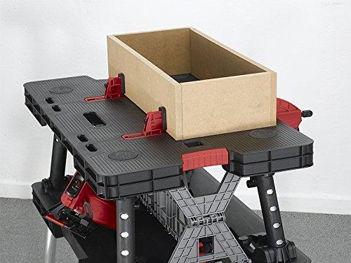 Keter 17182239  Werkzeugbank Master Pro Serie Folding Work Table,  Kunststoff, schwarz / gelb - 3
