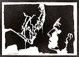 Alien Xenomorph y David Póster Grafiti Hecho a Mano Handmade Street Art - Aesthetic Artwork