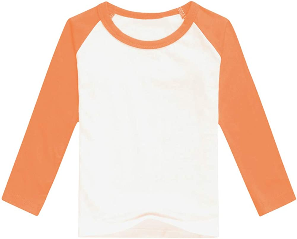 Toddler Kid Boy Girl Raglan Baseball Tee Shirt Long/Short Sleeve Crew Neck Tops Soft Casual T-Shirt Christmas Holiday Clothes