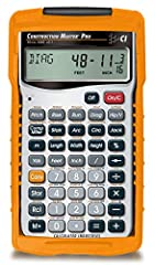 SOLVE ALL YOUR DIMENSIONAL MATH quickly and accurately with the award-winning CM Pro construction calculator's powerful built-in solutions for completing layouts, plans, bids, estimates and more, directly in the building units you prefer LETS YOU EFF...
