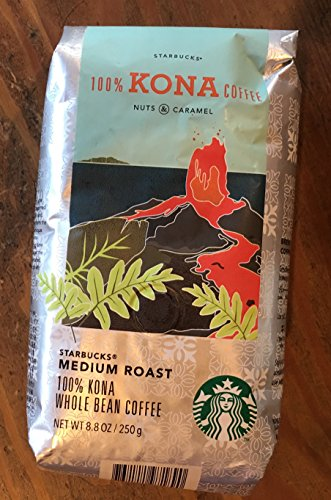 Starbucks 100% Kona Coffee Medium Roast 8.8 Oz Whole Bean
