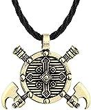 DUEJJH Co.,ltd Collar Egipcio Egipcio pirámide Colgantes para Hombres Estilo Punk Collares de Cadena de Cuerda joyería Triangular
