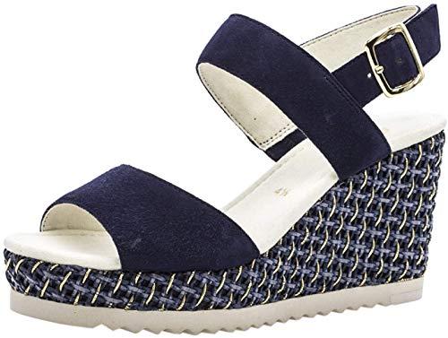 Gabor 25.790 kobiety, sandały na koturnie, buty letnie, wygodne, płaskie, - Bluette - 40 EU