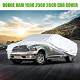 Dodge Car Cover All Weather Protection Waterproof Cover Truck Cover Fit for 1998-2019 Dodge Ram 1500 2500 3500 228-236 inch