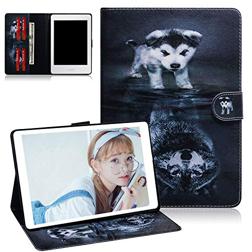 Case for Kindle Paperwhite 1 2 3 4 -UGOcase Protective Premium Leather Wallet Stand Case for All Amazon Kindle Paperwhite (Fits All 2012, 2013, 2015, 2016 & 10th Generation 2018 Versions), Wolf & Dog