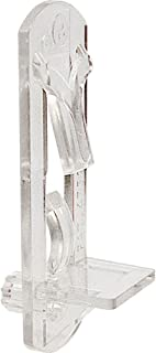 Prime-Line R 7316 Locking Shelf Pegs, 1/4 in. Peg x 1/2 in. Shelf, Plastic, Clear (Pack of 6)