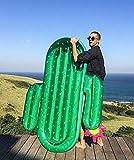 HAOT Flotador de Piscina Cactus Inflable Gigante Flotador de Piscina Tumbona de Playa roja Colchón de Aire Anillo de natación para Adultos Agua Fiesta de Verano Juguetes