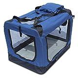YATEK Transportin para Perros Plegable entradas Laterales y Superiores con Alta Visibilidad, Confort y Seguridad para tu Mascota, Talla XXL (91,4 x 63,5 x 63,5 cm)