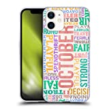 Head Case Designs Ottobre personalità dei Mesi di Nascita Cover in Morbido Gel Compatibile con Apple iPhone 12 Mini