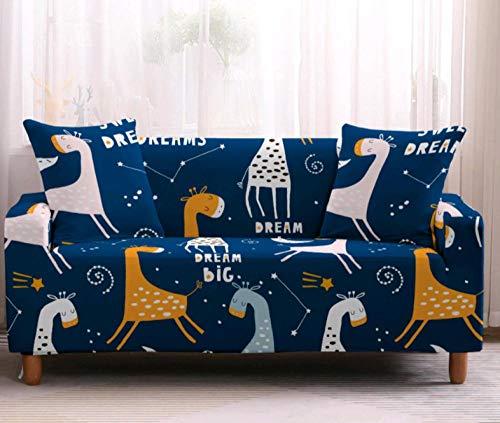 Funda de sofá de 1 Plazas Funda Elástica para Sofá Poliéster Suave Sofá Funda sofá Antideslizante Protector Cubierta de Muebles Elástica Animales Doodle Azul Funda de sofá