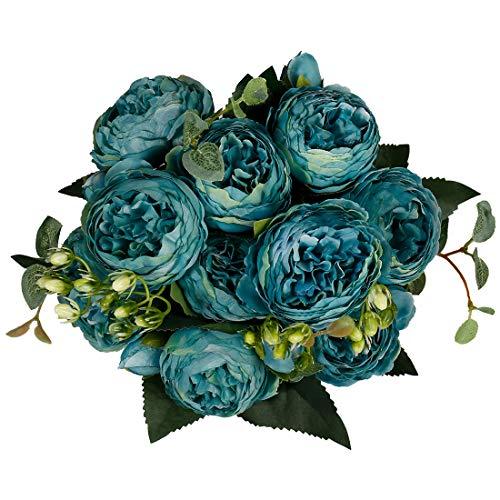 StarLifey 2 piezas de seda pequeñas peonías artificiales arreglos de hortensias para el hogar, fiesta, boda, ramo de…