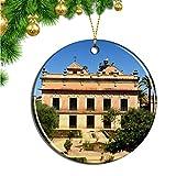 Hqiyaols Ornament España Jerez De La Frontera Navidad Adornos Colgantes Pieza Cerámica Recuerdo Ciudad Viaje Regalo
