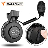 MallMartUSA Electric Bike Bell, Electronic Bicycle Bell Horn Loud Crip Clear with (Volume + -) USB Rechargeable Waterproof 4 Sound Modes for MTB Mountain/Road Bike, any Bike, Scooters