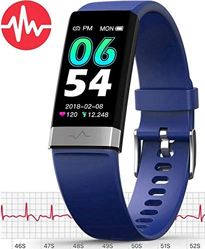 MorePro Monitor Watch,Waterproof Fitness Tracker with Heart Rate Blood Pressure Monitor, Activity Tracker with Enhanced Sleep Monitor for Android iOS, Pedometer Calorie Step Counter for Women Men