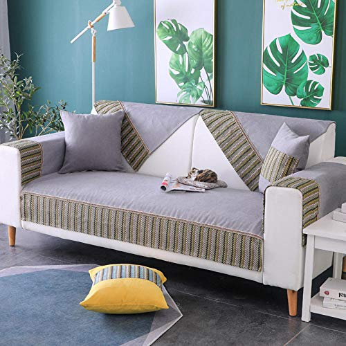 sofas salon chaise longue,Funda antideslizante para sofá de jardín al aire libre,fundas de sofá de felpa fina,protector de sofá a rayas con costuras,fundas de sofá-grey_stripe_Pill-Vendido por pieza