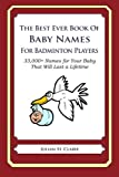 The Best Ever Book of Baby Names for Badminton Players: 33,000+ Names for Your Baby That Will Last a Lifetime