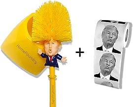 Donald Trump Toilet Brush Toilet Paper Bundle Funny Political Gag Novelty Item (Holder Included)