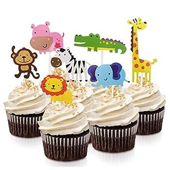 edible zoo animal cupcake toppers