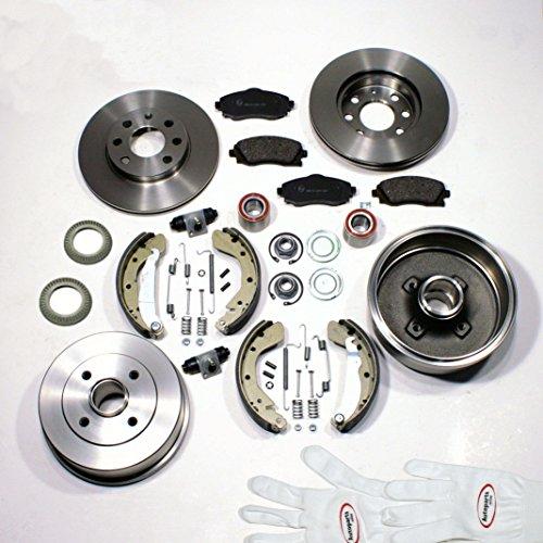 Autoparts-Online Set 60004384 Bremsscheiben/Bremsen + Bremsbeläge + Bremstrommel Set für vorne + hinten