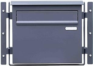 Tuinbrievenbus Grande in fijne structuur mat - RAL 7016 antraciet brievenbus doorwerpbrievenbus