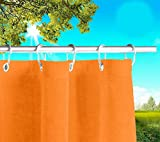 Toldos exteriores con agujeros en la parte de Arriba y los ganchos de metal Tejido antimoho repelente al agua Toldo de tela de algodón resinado para terrazas Gazebos Balcon (Naranja cm x H 280cm)