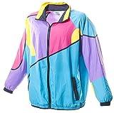 Funny Guy Mugs Gnarly 80s & 90s Retro Neon Windbreaker, Medium