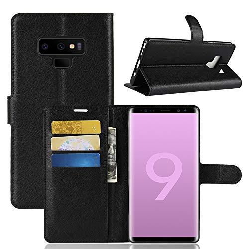 Capa Capinha Carteira Flip Wallet Case 360 Para Samsung Galaxy Note 9 Case De Couro Sintético - Danet - Pronta Entrega (Preto)