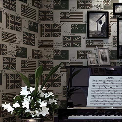 Behang Wallpape Retro Britse Vlag Engelse Letter Pure Paper Wallpaper Woonkamer Slaapkamer Kinderkamer Achtergrond Wallpaper-2