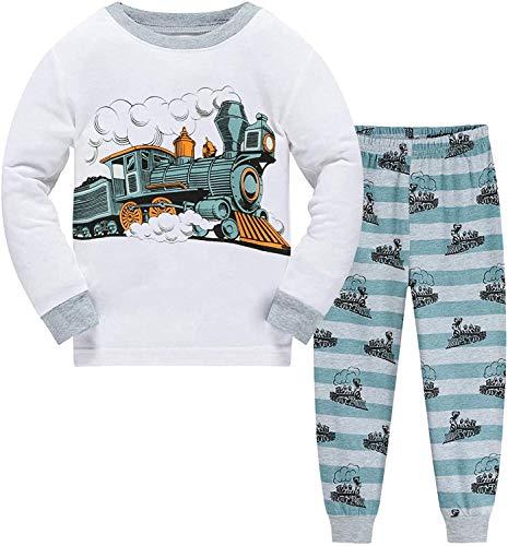 EULLA Jungen Dinosaurier Schlafanzug Jungen Schlafanzug Kinder Langarm Pyjama Set DE...