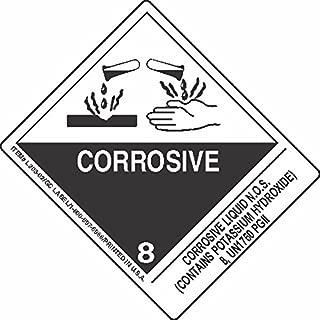 GC Labels-L303P3100, Corrosive Liquid N.O.S. (Contains Potassium Hydroxide) 8, UN1760 PGII, Roll of 500 Labels